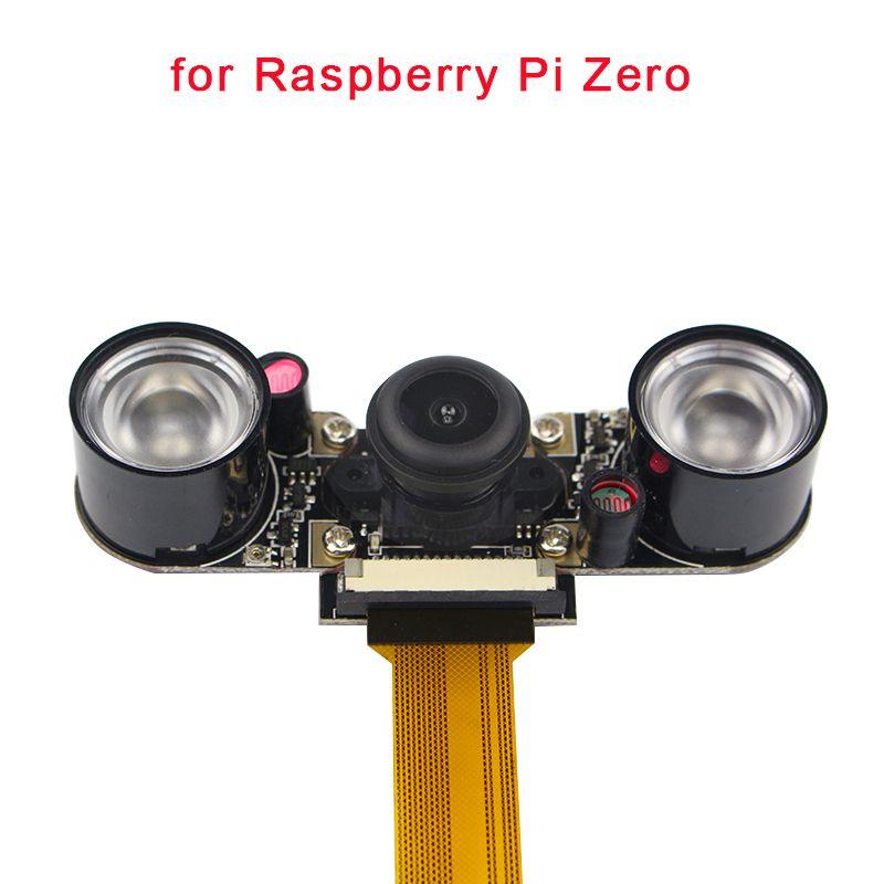 Raspberry Pi Zéro W Nuit Vision Caméra Grand Angle Fisheye 5 MP 1080 P Caméra + 2 Infrarouge IR LED Lumière pour Raspberry Pi Zéro W