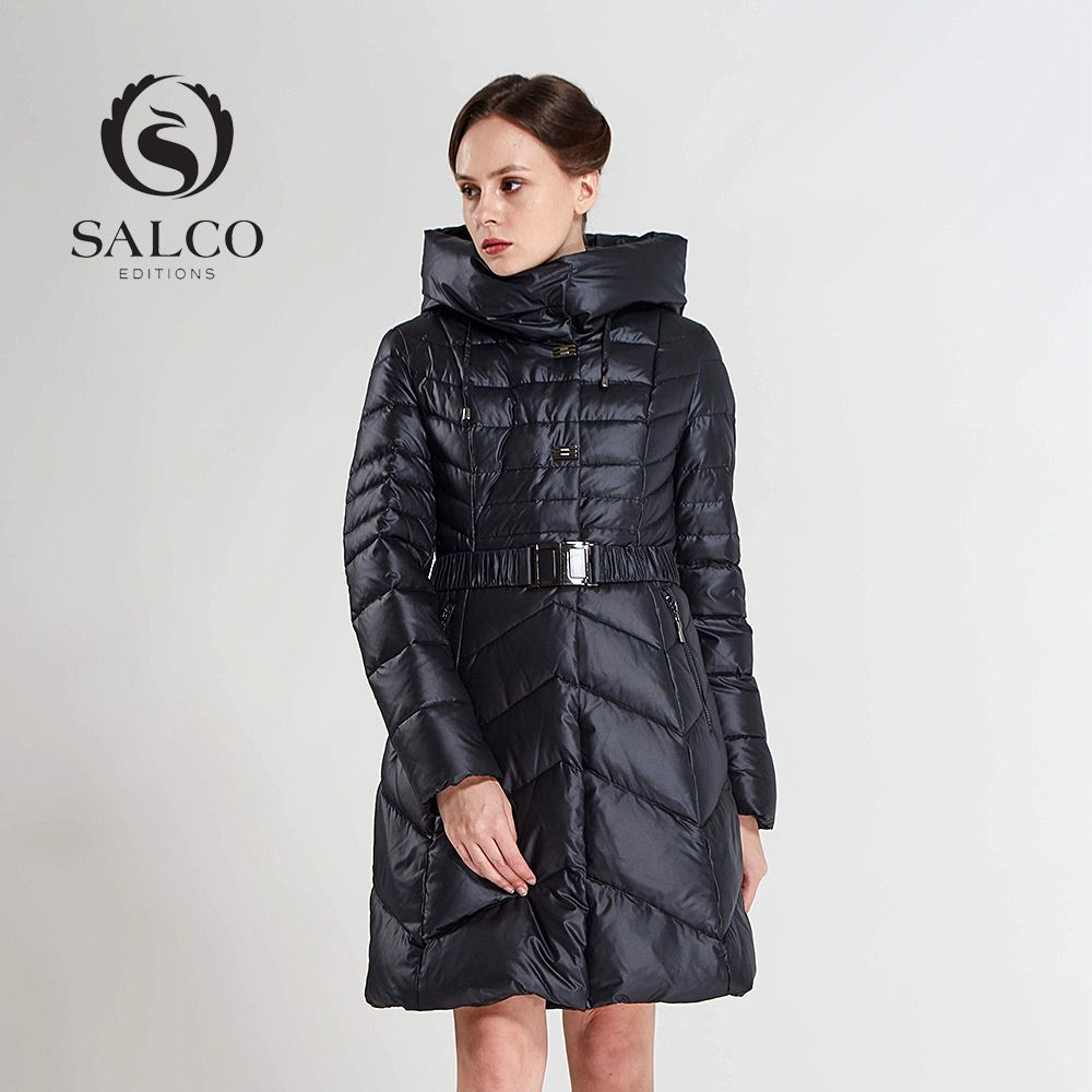 SALCO Free shipping In 2017, the latest version of ms to keep warm in the winter long hooded down jacket coat