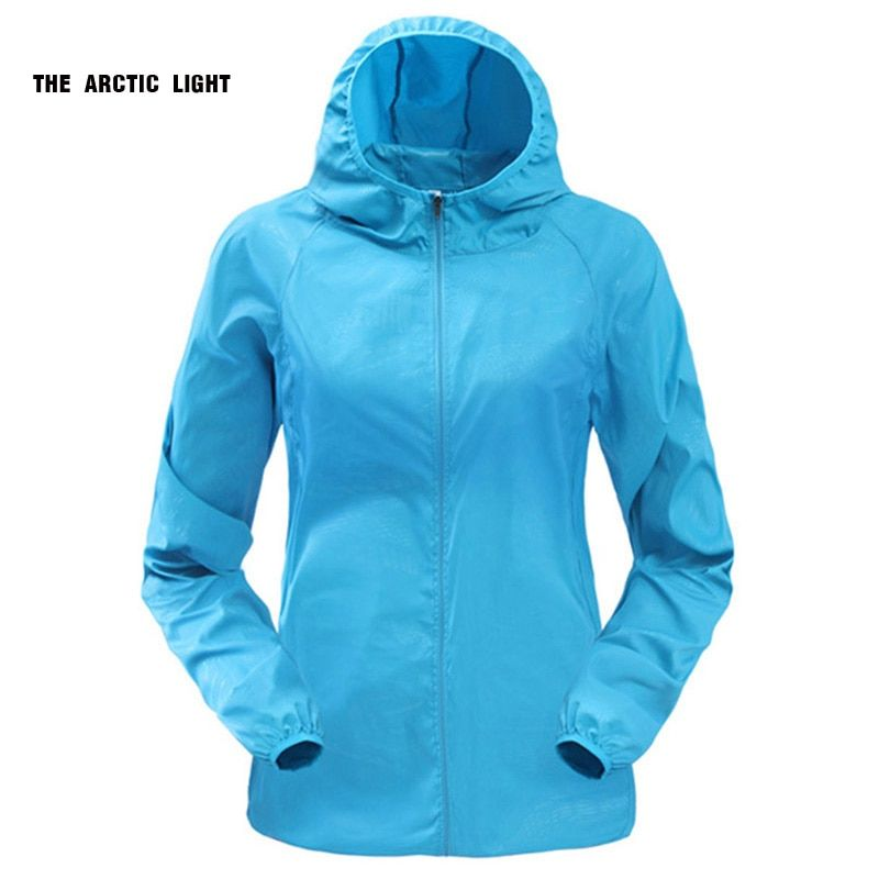 Outdoor Running Camping Hiking Bike Sport Jacket Sun-Protect <font><b>Ultralight</b></font> Waterproof Windbreaker Rain Coat