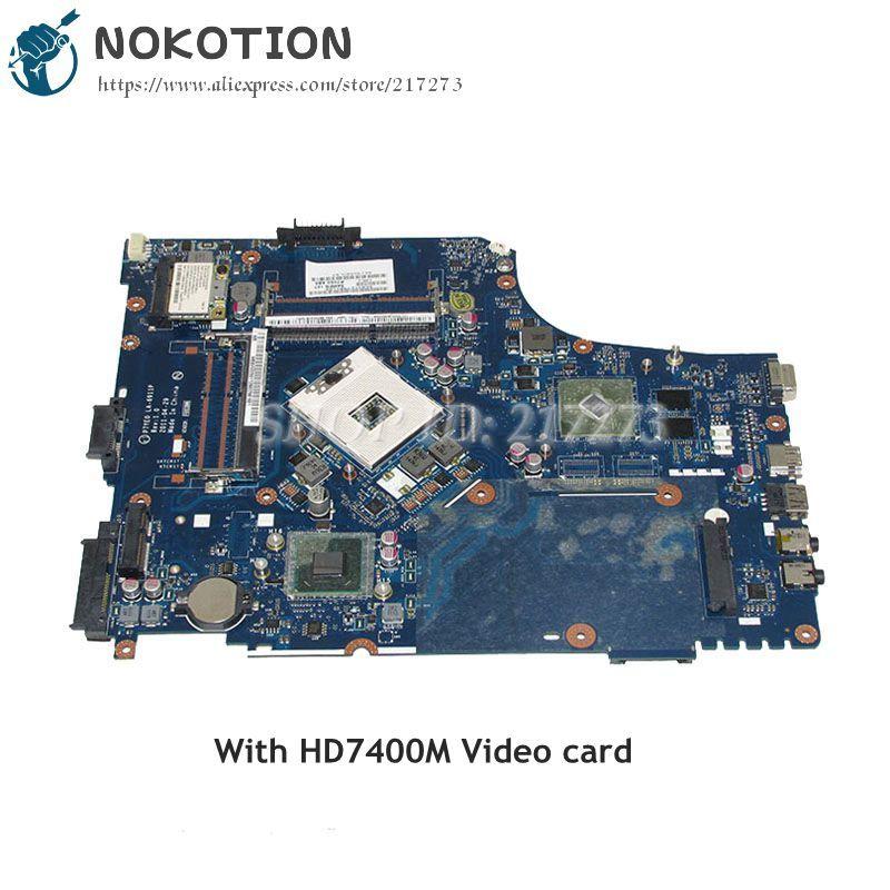 NOKOTION P7YE0 LA-6911P For Acer aspire 7750 7750G Laptop Motherboard HM65 DDR3 HD7400M MBBVV02001 MB.BVV02.001 MAIN BOARD