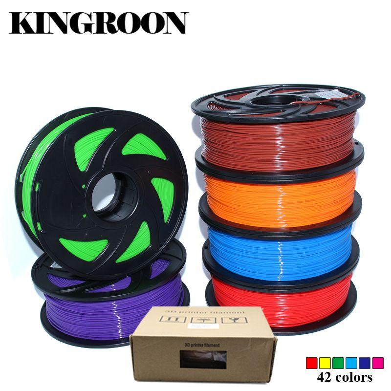PLA 1.75mm Filament 1 KG Impression Matériaux Coloré Pour 3D Imprimante Extrudeuse Stylo Arc-En-Plastique Accessoires Noir Blanc Rouge gris