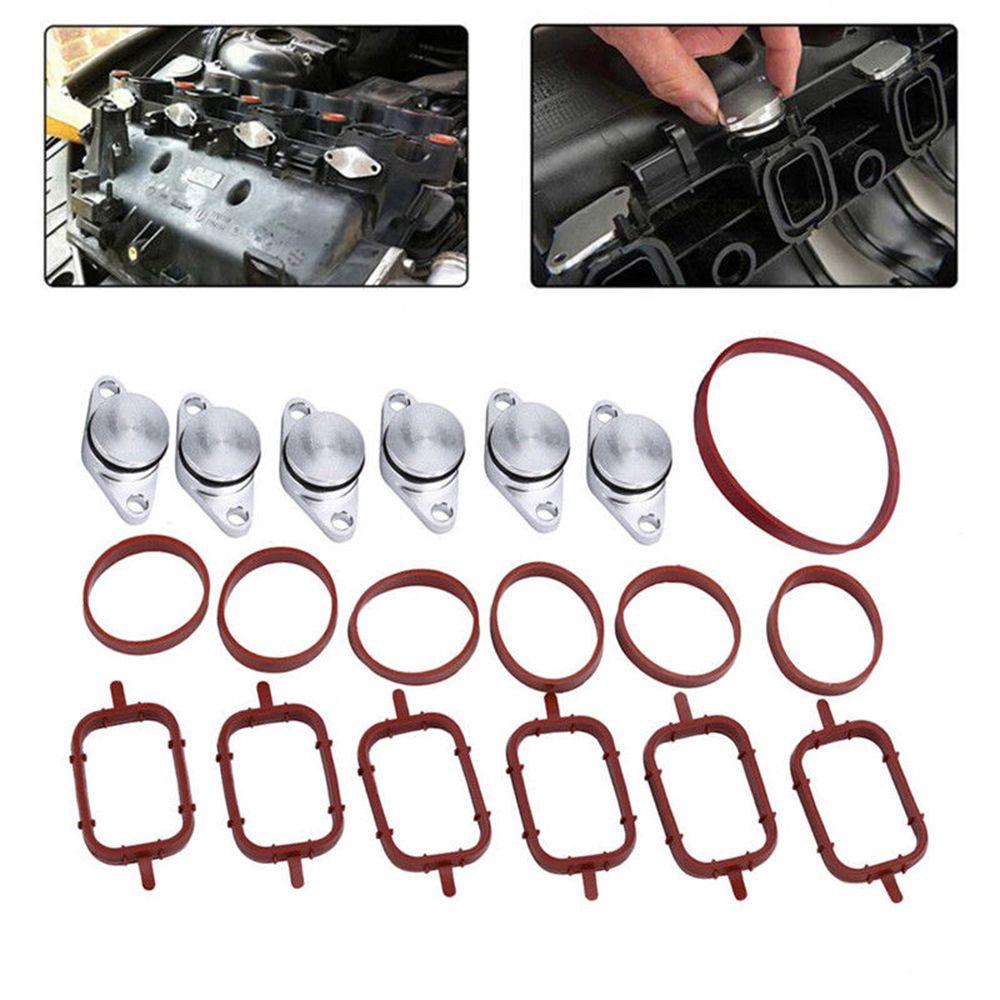 6set 33mm Auto Auto Swirl Ventil Ersatz Intake Dichtungen Kit Passt für BMW 320d 330d 520d 525d 530d SI-A0136 Auto Zubehör