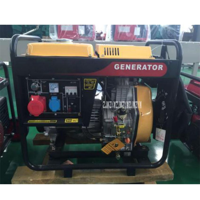 New HQ5GF 5KW Diesel Generator Set High-quality Single/Three Phase Air-cooled Diesel Generator 220V/380V 50Hz 456ml 5(kw/kva)