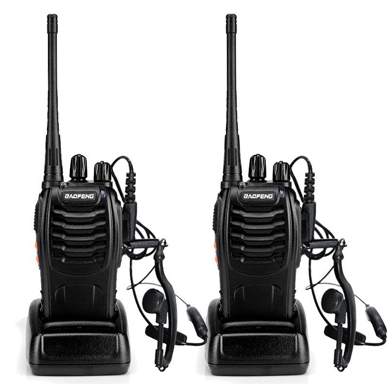 2 pcs BaoFeng BF-888S Talkie Walkie UHF400-470MHZ Portable Jambon baofeng 888 s CB Radio comunicador BF-888S Émetteur-Récepteur