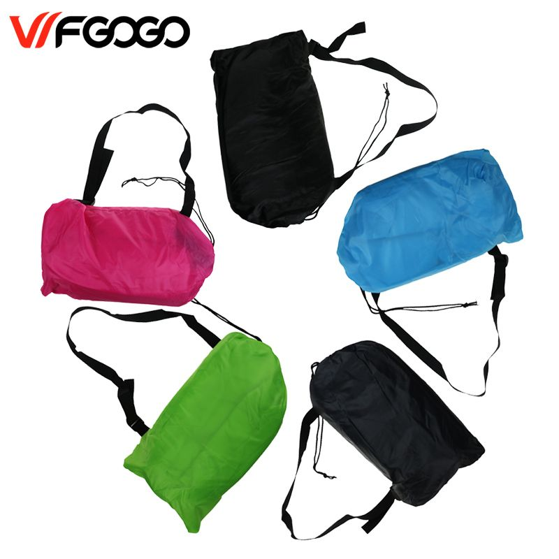 WFGOGO Lazy bag Fast Inflatable Sofa Outdoor Air Sofa Sleeping bag Couch Portable Furniture Living Room Sofas for Summer Campin