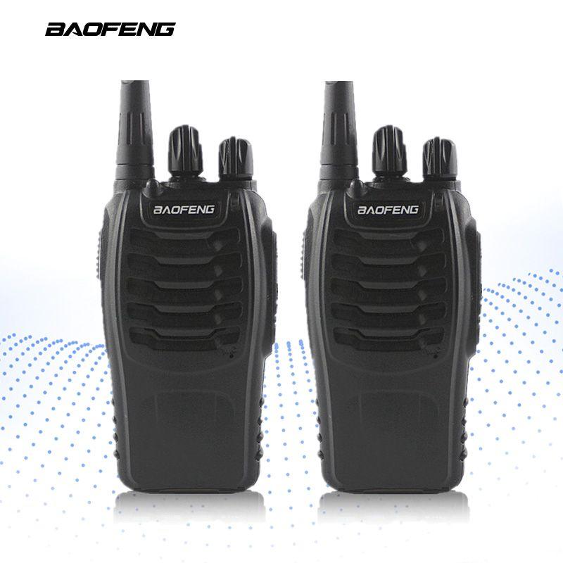 2-PCS BAOFENG BF-888S Talkie Walkie UHF FM Transceiver Poche Interphone 400-470 mhz Bidirectionnelle Portable CB Radio Longue distance