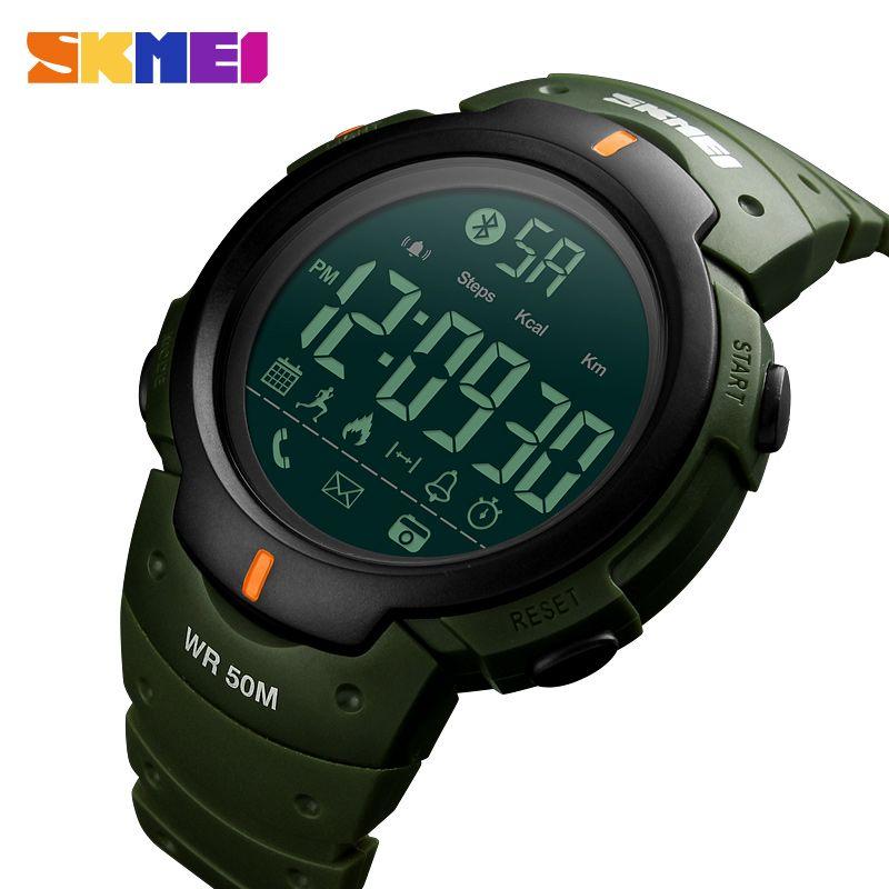 SKMEI Fashion Smart Sports Watch Men Calorie Pedometer Bluetooth Smart Watches Waterproof Digital Wristwatches Relogio Masculino