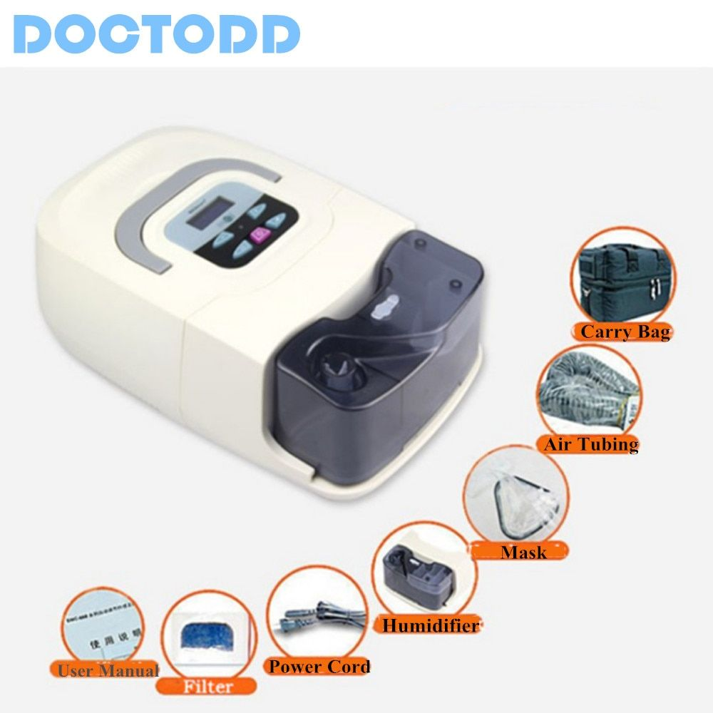 Doctodd Portable CPAP Machine Respirator for Sleep Apnea OSAHS OSAS Snoring People W/ Nasal Mask Headgear Tube Bag Free Shipping