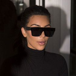Kim Kardashian Dame Lunettes De Soleil UV400 Femmes Hommes Lunettes de Soleil 50 S Femelle Plat toP Italie Marque Designer famousSquare Celebrity