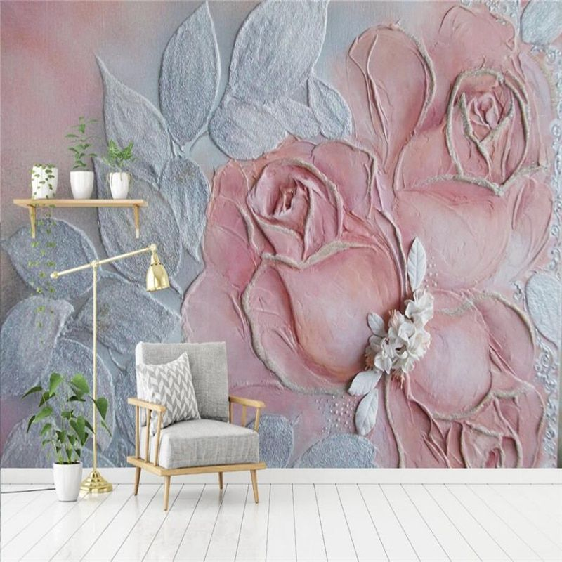 3d Photo of Rose Relief Rose 3d Wall Murals Embossed Non-Woven for Bedroom TV Background 3d Wall Mural Wallpaper Restaurant