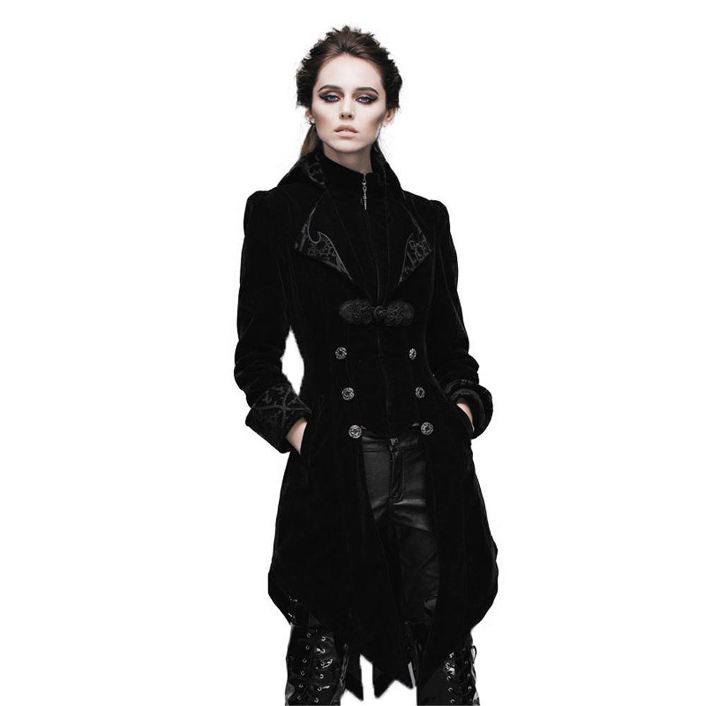 Steampunk Swallow Tail Coat Gothic Palace Women's Long Winter Jackets Cultivate Long Dust Coat Outwear