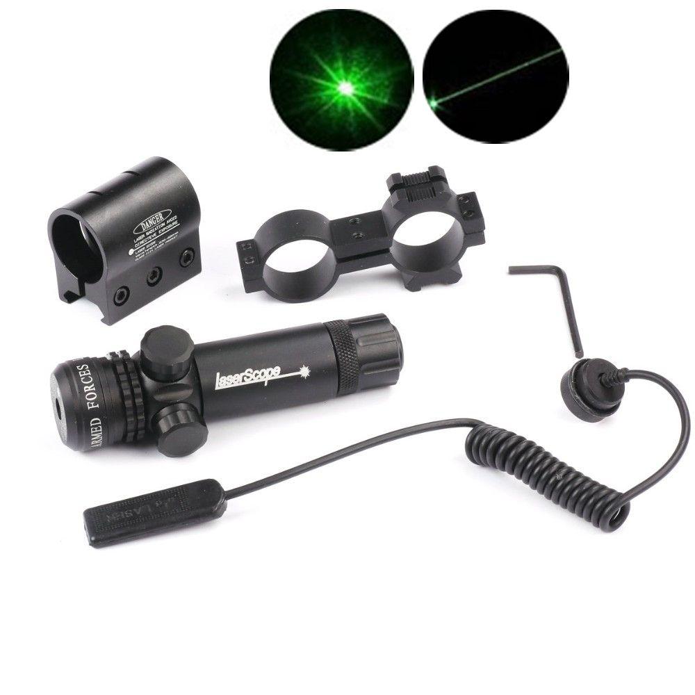 Grün/Red Dot Laser Sight Zielfernrohr Jagd Airsoft Pistole umfang 20mm Schiene Druckschalter Laserhalter Barrel Berg Kappe caza