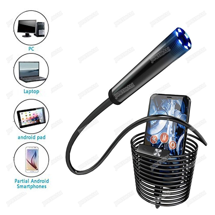 5.5/7/8mm Lens 1/1.5/3.5/5m 720P Android USB Endoscope Camera Flexible Snake USB Car Repair Android Phone Borescope Camera
