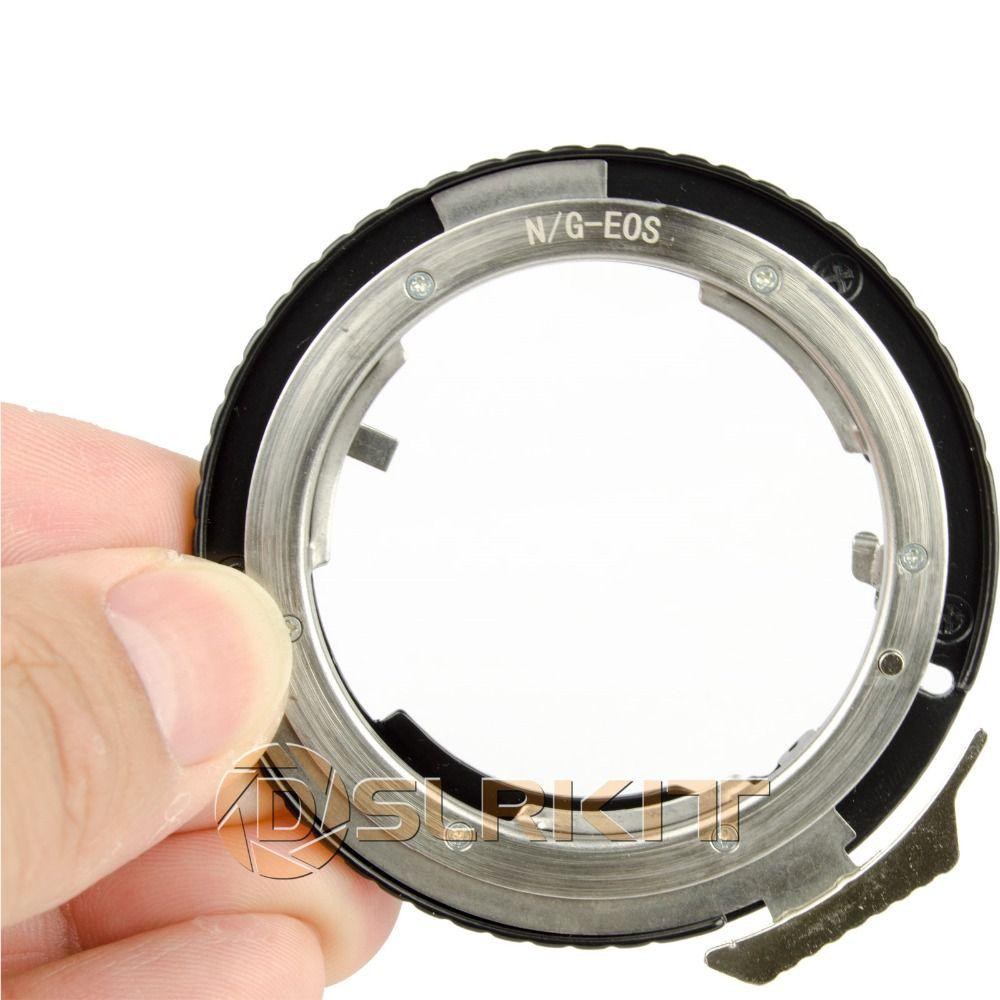 Adaptateur d'objectif pour objectif Nikon G AF-S AI F et Canon EOS EF adaptateur de montage 650D 600D 550D 1100D 60D 7D 5D