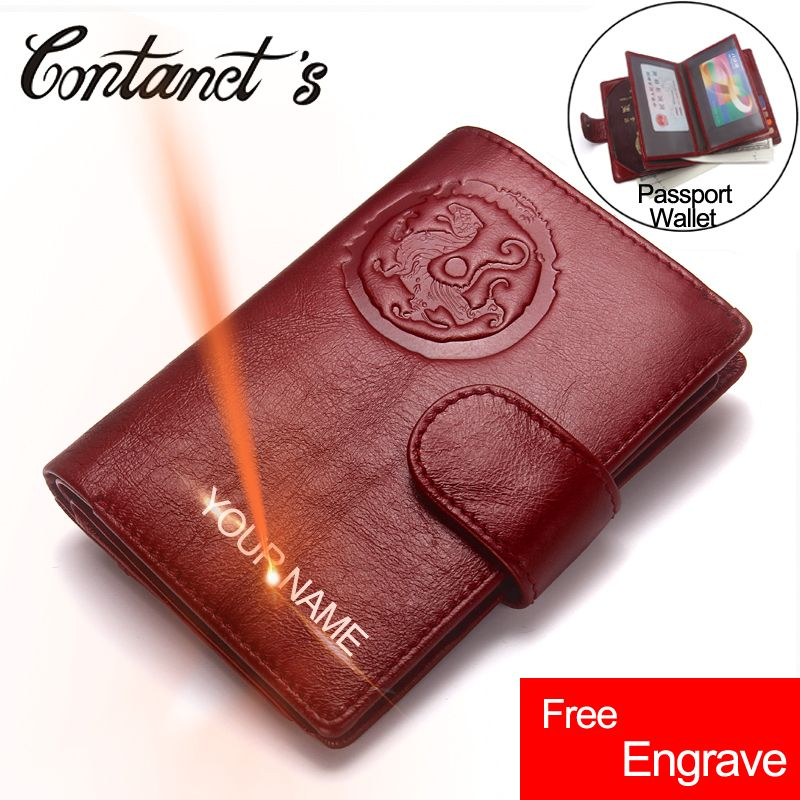 Passport Wallet Genuine Leather Women Travel Wallets Business Card Passport Purse Organizer Driver License Cover Document Holder