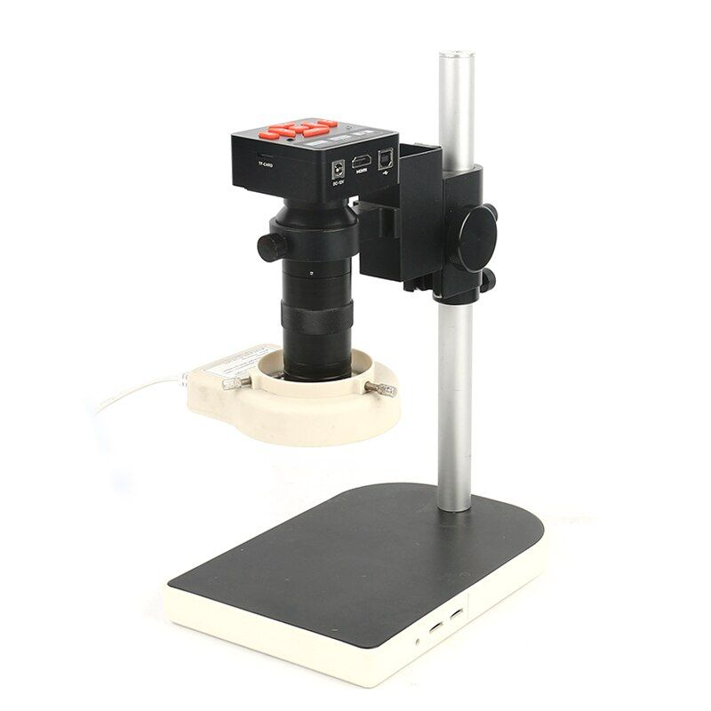 20MP 1080 p Volle HDMI HD 60F/S High Speed Video Beeinflussten Labor Mikroskop Kamera + 130X C- mount Objektiv + Großen Stand + 144 LED Ring Licht