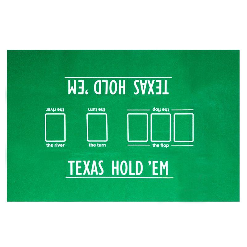 90*60cm Texas Hold'em Poker nappe facile à transporter Mini Poker Set accessoire Poker feutre mises en page