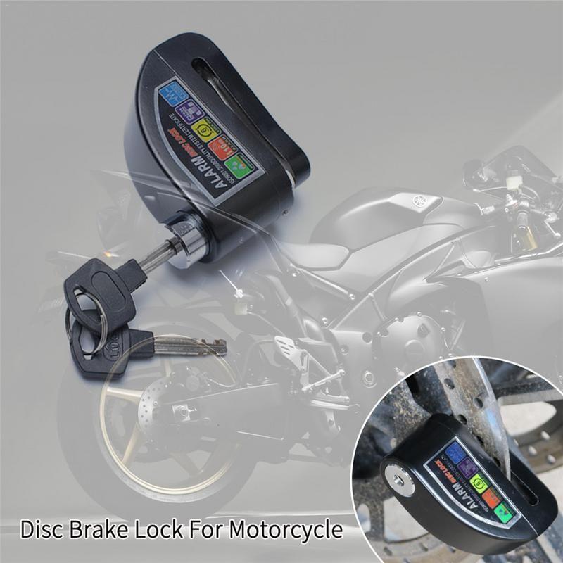 Motorcycle Disc Brake Lock Motorbike Scooter Bicycle Aluminum Alloy Anti-theft Wheel Disc Brake Lock Security Alarm Protection