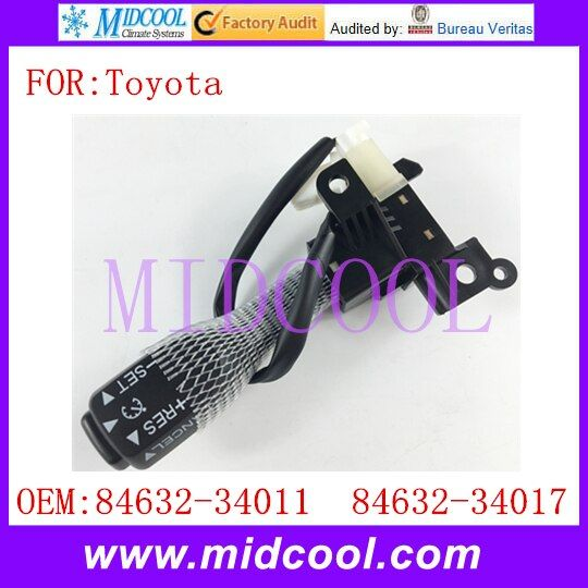 New Cruise Control Switch use OE NO. 84632-34011 / 8463234011 , 84632-34017 / 8463234017 for Toyota Camry Corolla Cruise