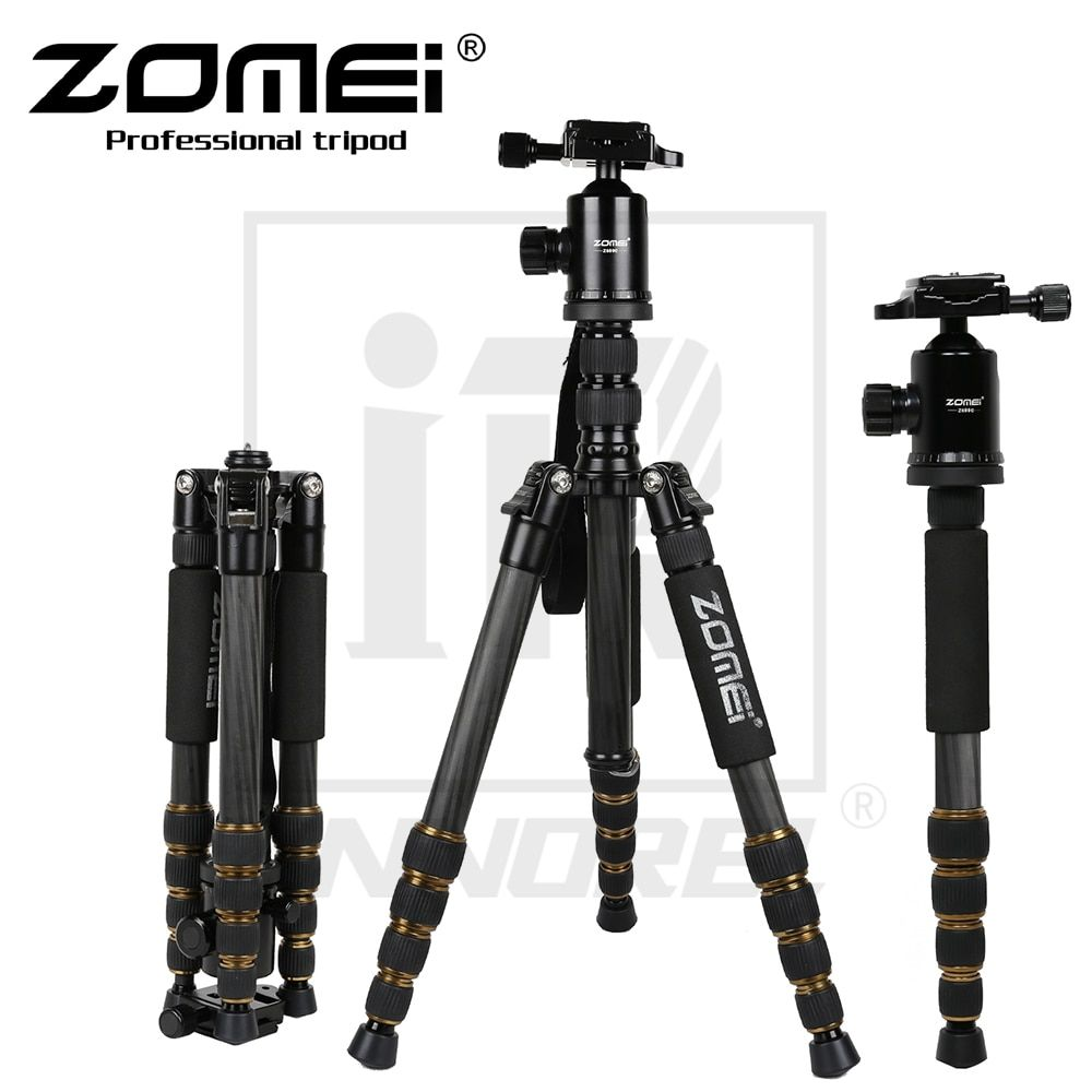 Zomei Z699C Carbon Fiber Tripod Professional SLR camera portable travel Stand Monopod Ball head for Canon Nikon Sony