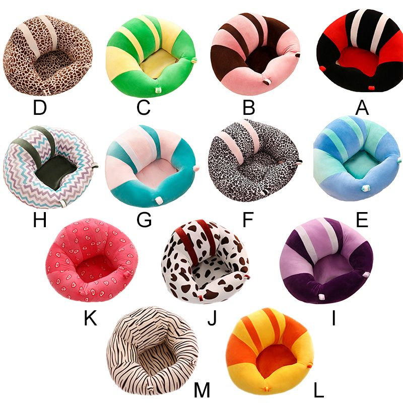 Colorful Baby Seat Support Seat Soft Sofa Cotton Safety Travel Car Seat <font><b>Pillow</b></font> Plush Legs Feeding Chair Baby Seats Sofa