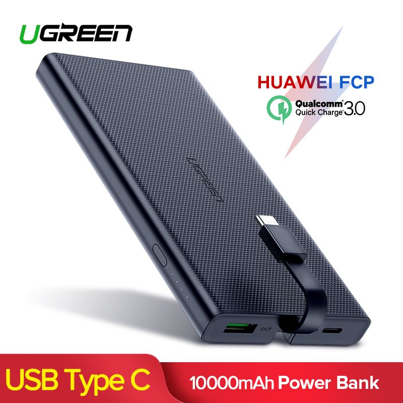 Ugreen Quick Charge 3.0 Power Bank 10000mAh USB C Powerbank External Battery Charger For Mobile Phones Tablets Poverbank
