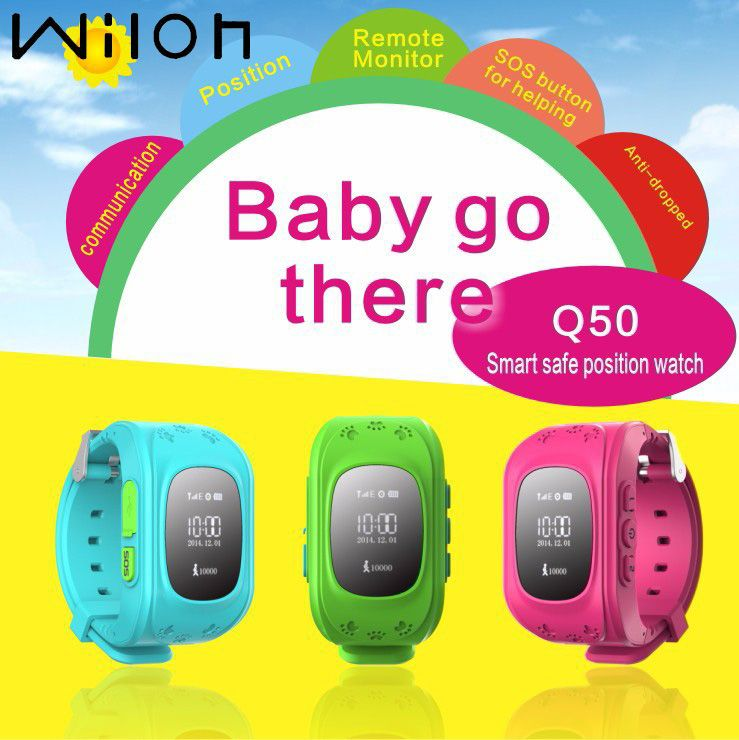 GPS Tracker Watch For Kids SOS Emergency Anti Lost Bracelet Wristband Q50 smart watch Wearable Devices OLED scree Children watch