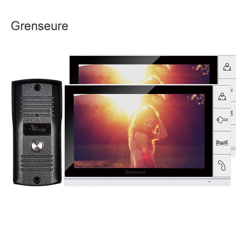 FREIES VERSCHIFFEN Home Security 9 zoll TFT LCD Video türsprechanlage Intercom System Mit 2 Weiß-bildschirme + 1 Klingel-kamera IM LAGER