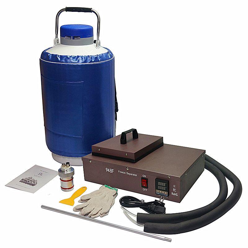 2 in 1 paket flüssigkeit stickstoff gefrorene lcd Separator FS06 mit 10L flüssigkeit stickstoff tank
