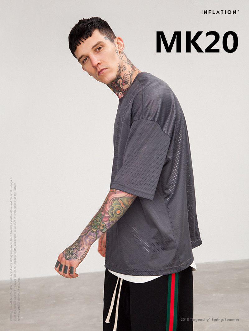 2018 neue Art Und Weise kommen männer 100% baumwolle t shirt MK20 2 teile/satz