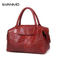 2018 новая женская сумка из натуральной кожи Boston сумка в европейском стиле простая сумка модная трендовая сумка через плечо Офисная Женская С...