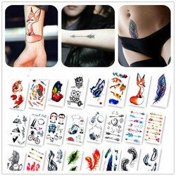 New Arrival Colorful Painting Animals Fake Flash Sexy Body Art Temporary Tattoo Stickers For Man Woman