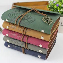 Raj vintage cahier de voyage voyage journal journal note livre couverture en cuir A7 A6 anneau liant kraft papier blanc sketchbook