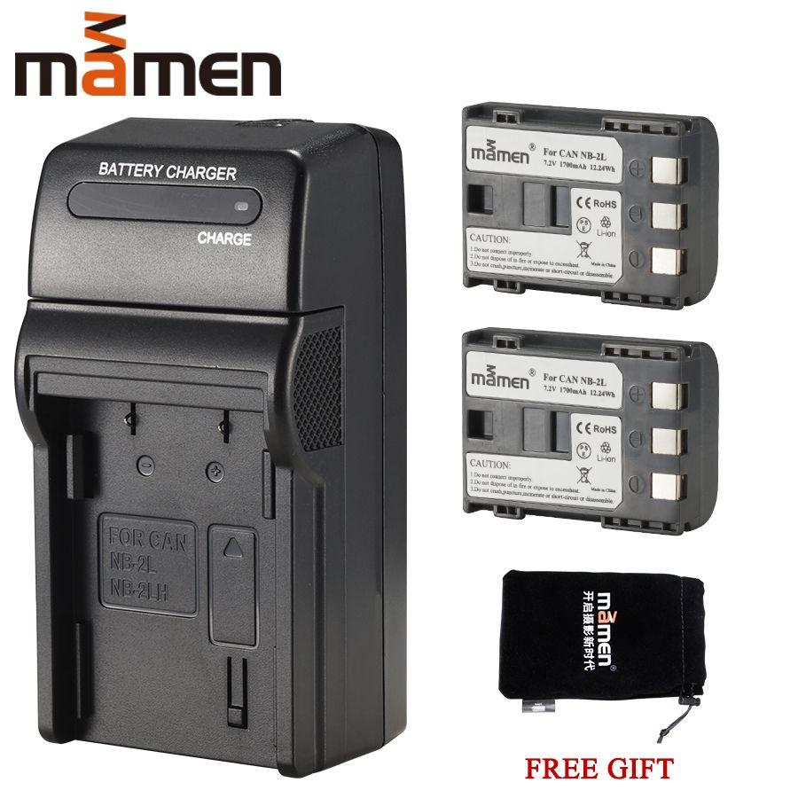 Mamen 1700mAh NB-2L NB 2L NB2L NB-2LH BP-2L5 Appareil Photo Numérique Batterie + Chargeur Simple pour CANON 350D 400D G7 G9 S30 S40 z1