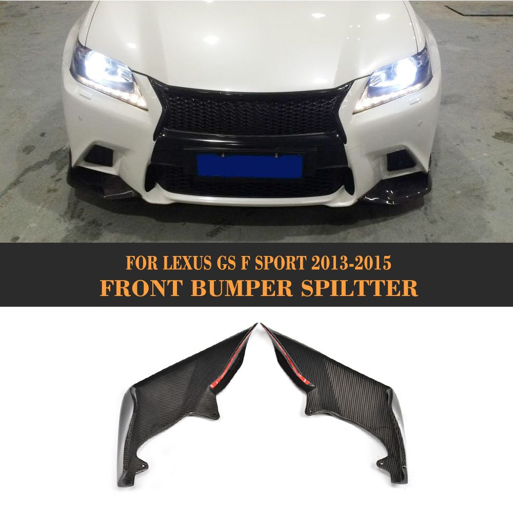 carbon fiber front bumper flaps apron lip Spoiler splitters for Lexus GS F Sport Sedan 4 Door Only 13-15 GS350