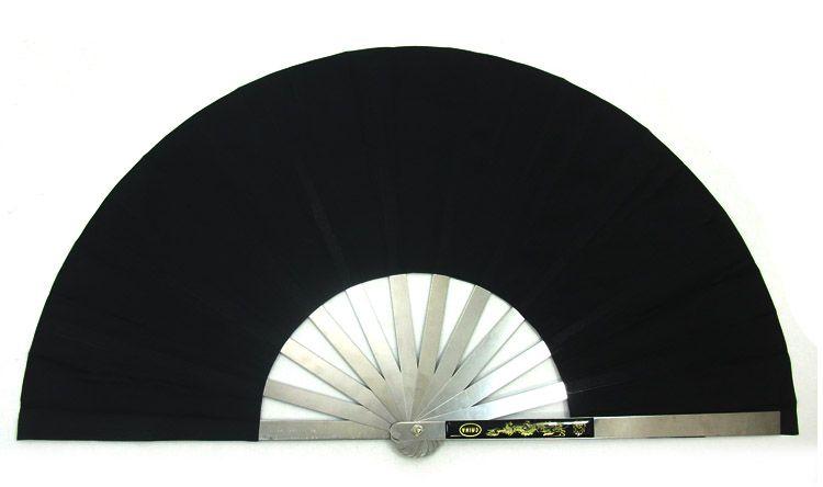 All stainless steel fan bones tai chi  kung fu fan tieshan dance quinquagenarian fitness metal fan