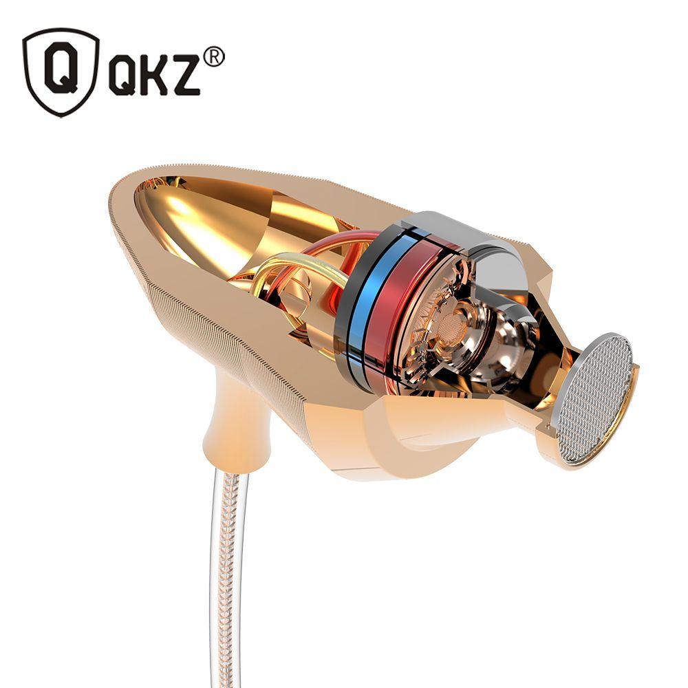 X7 QKZ Super Bass En la Oreja los Auriculares auricular Música Auriculares con Micrófono DJ Auriculares de Aislamiento de Ruido de ALTA FIDELIDAD Estéreo fone de ouvido