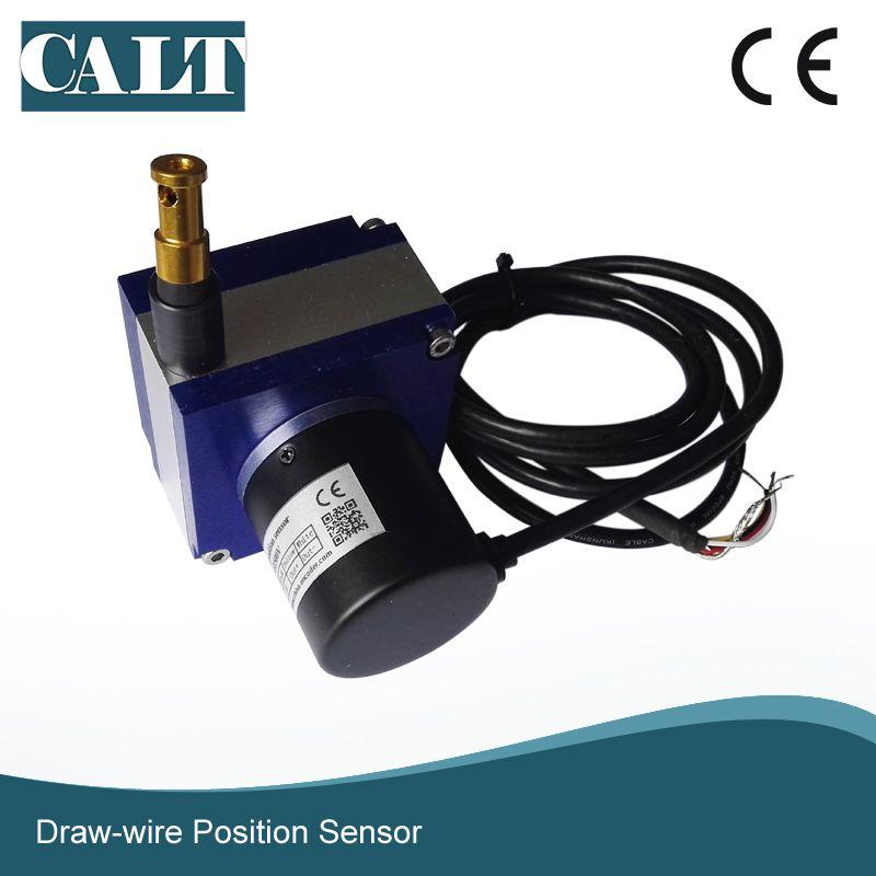 CALT 1500mm Linear Distance Measurement Sensor Steel Wire Cable Pull Extension Position Sensor
