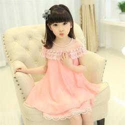 Gadis Putri Anak Gaun Malam Kualitas Pakaian Anak Sifon Renda Gaun Pesta Prom Mutiara Gaun BabyGirl 2018 Baru Musim Panas