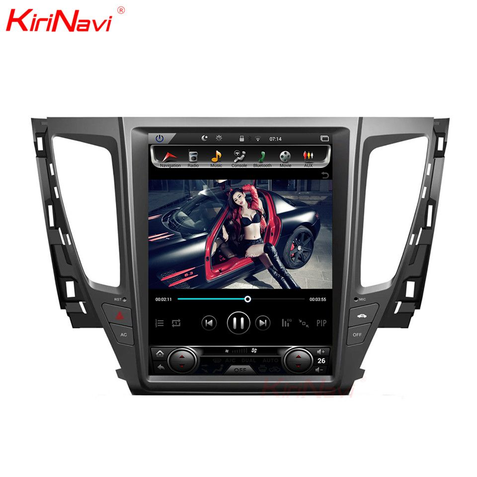 KiriNavi Android 7.1 Radio Auto Multimedia Player Für Pajero Sport Android Auto Audio Gps Navigation auto video player 2016 + WIFI