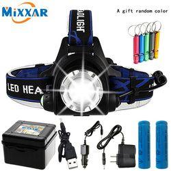 10000LM T6 L2 Led Headlamp Zoomable dropshipping Headlight Waterproof Head Torch flashlight Head Lamp Fishing Hunting Light