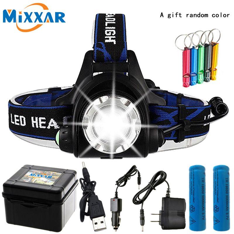 10000LM T6 L2 Led phare Zoomable livraison directe phare étanche tête torche lampe de poche lampe frontale pêche chasse lumière
