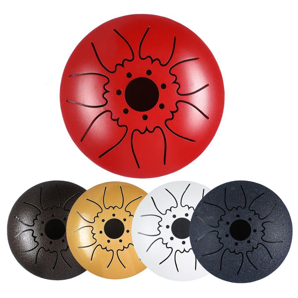 Mini tambour à langue en acier 7 tons 5 pouces tambour à langue C tambour à main avec maillets à tambour sac de transport