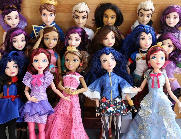 11 ''оригинальный потомки девушка кукла нескольких совместных принцессы Игрушечные лошадки Русалка Белоснежка Золушка