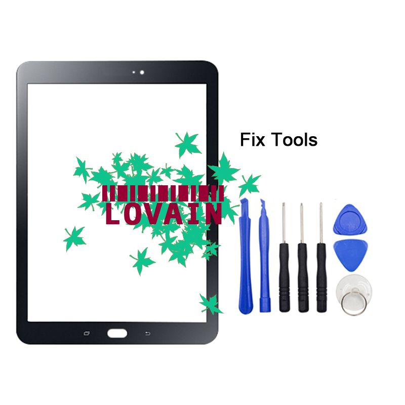 LOVAIN 1PCS (Original) For Samsung Galaxy Tab S3 9.7 2017 T820 T825 T827 Front Glass Lens Touch Screen Outer Panel+Tools