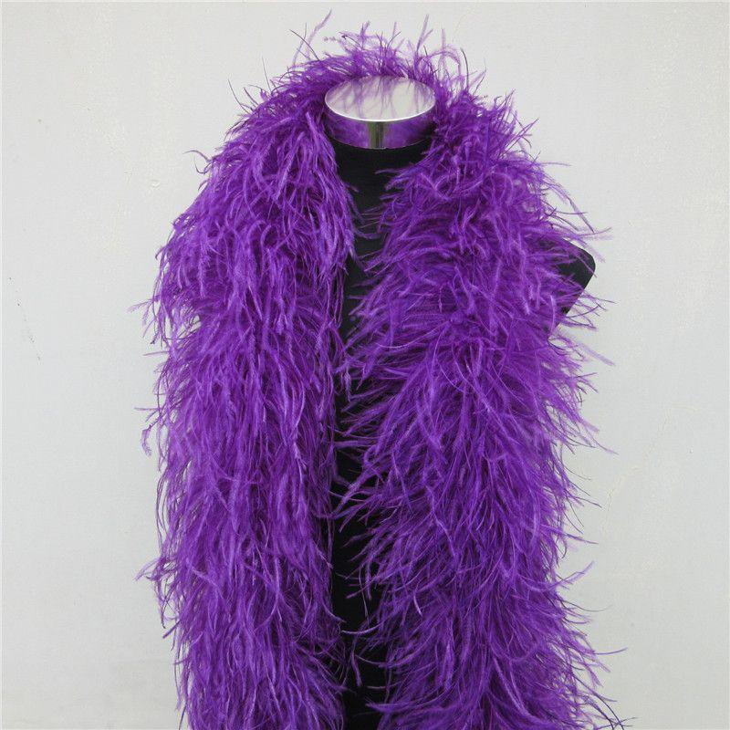 2 meter lila straußen feder boa Trimmt rock Party/Kostüm flauschigen straußen federn Für Handwerk DIY hochzeit dekorationen Plumes