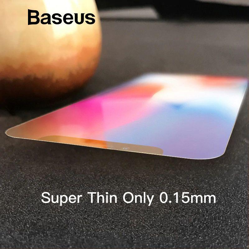 Baseus Ultra Thin Screen Protector Für iPhone X 10 Glas Gehärtetem Transparent Scratch Proof Schutz Glas Für iPhone X