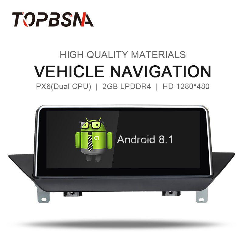 TOPBSNA Android 8.1 Auto DVD-multimedia-Player für BMW X1 E84 2009-2015 mit iDrive Steuergerät audio BT GPS Navi stereo Spiegel-link