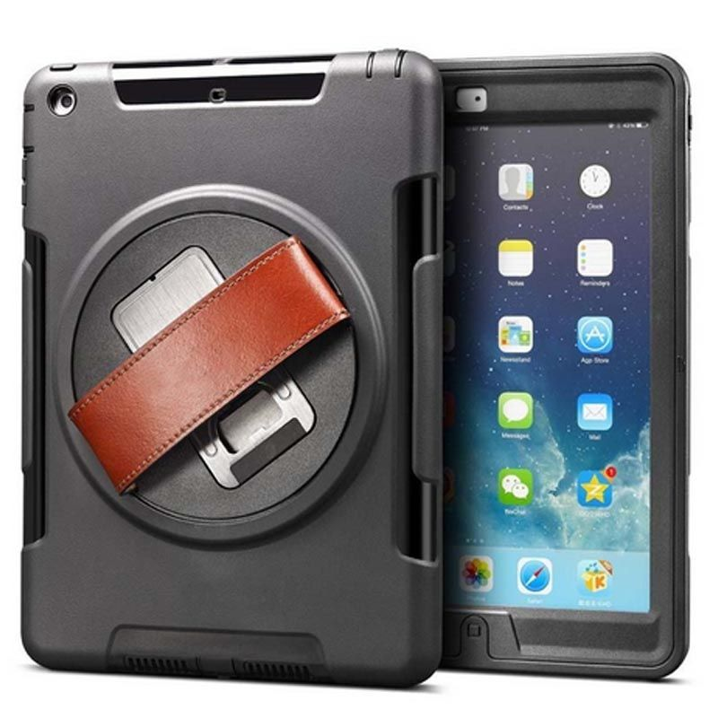 En cuir Stap Main Cas pour Apple iPad 2/3/4 Kids Safe Antichoc En Silicone Souple Stand Armure Couverture main tenir fonction pour iPad 234