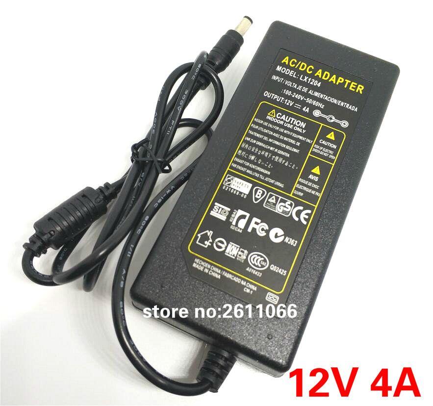 12V4A DC 12 V 4A AC 110-240 V lumière LED adaptateur d'alimentation alimentation LED adaptateur transformateur pour bande de LED 5050 2835 DC 5.5*2.5mm